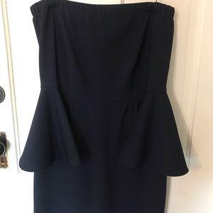 Off the shoulder blue mini dress